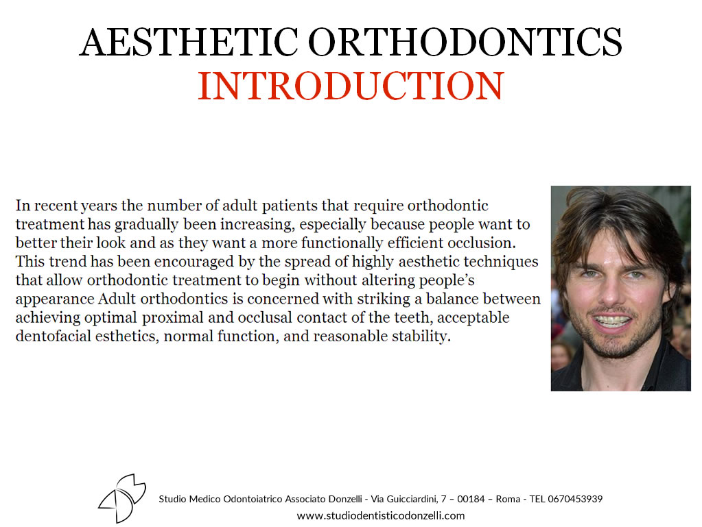 Aesthetic Orthodontics Introduction - Studio Medico Odontoiatrico Donzelli