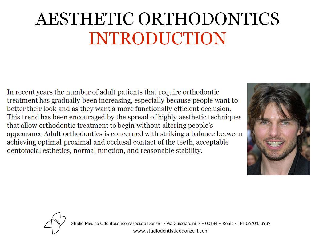 Aesthetic Orthodontics Introduction - Studio Medico Odontoiatrico Donzelli